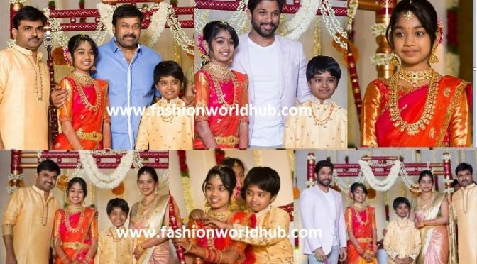 Director Maruthi Rao daughter Halfsaree function photos!