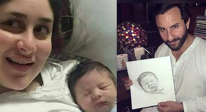 SEE PIC: THIS SKETCH OF SAIF'S SON TAIMUR WILL MELT YOUR HEART TODAY