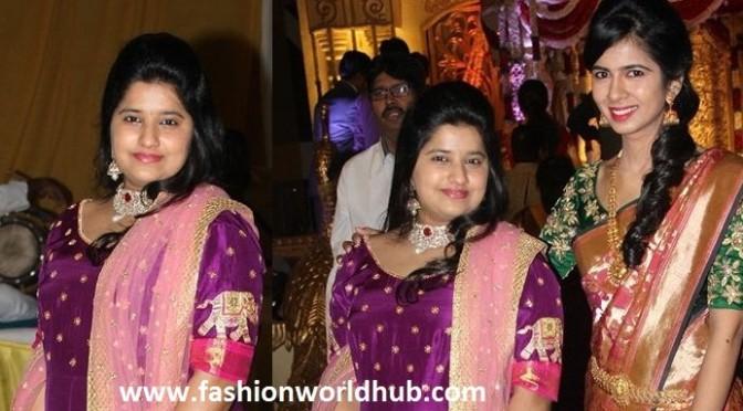 Dilraju daughter Hanshitha in floor Length Anarkali!