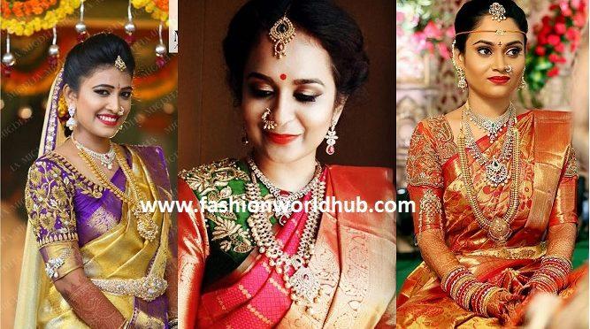 Bridal kanjeevaram sarees~ Mugdha art studio~