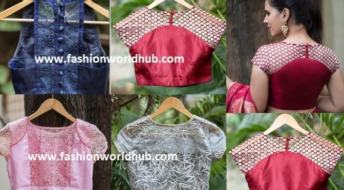 2017 Latest net blouse designs ~Fashionworldhub~