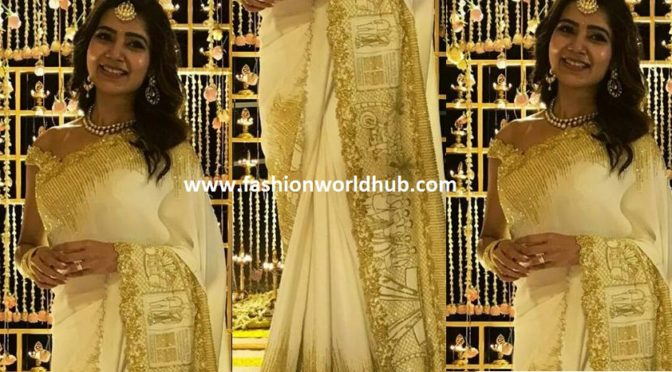 WOW …Samantha Love story on her Engagement saree!