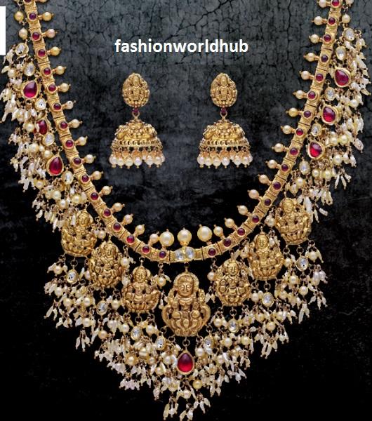 Gold Lakshmi Guttapusala Haram Fashionworldhub