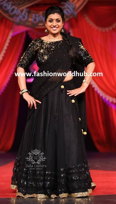 Black half saree