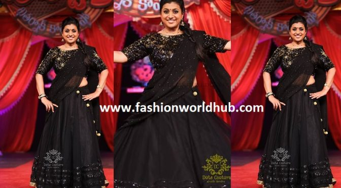 Actress Roja in Black and black Halfsaree!