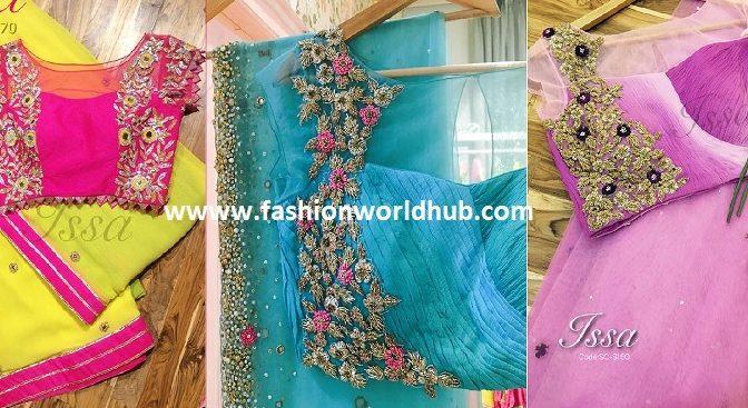 Designer sarees & blouses from ISSA Studio!
