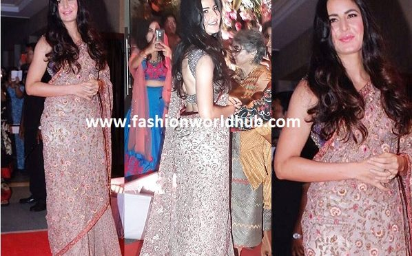 Katrina kaif in floral Embroidered saree!
