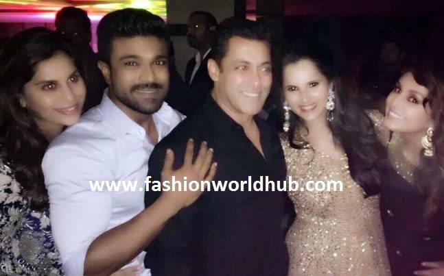 Ramcharan and upasana at sania mirza sister wedding fashionworldhub