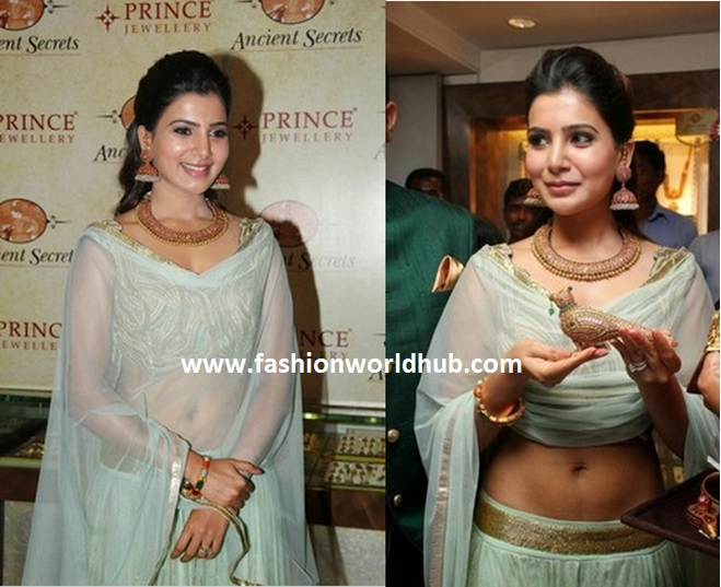 Samantha in antique jewellery