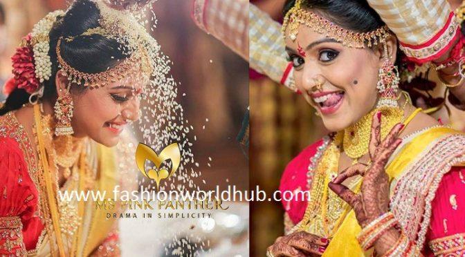 Vithika sheru wedding jewellery by MS PINK Panthers