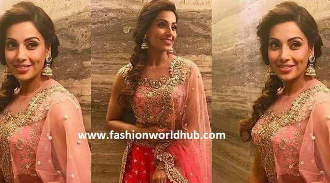 Bipasha looked like an Angel in Anushree reddy lehenga.. Watch this video!