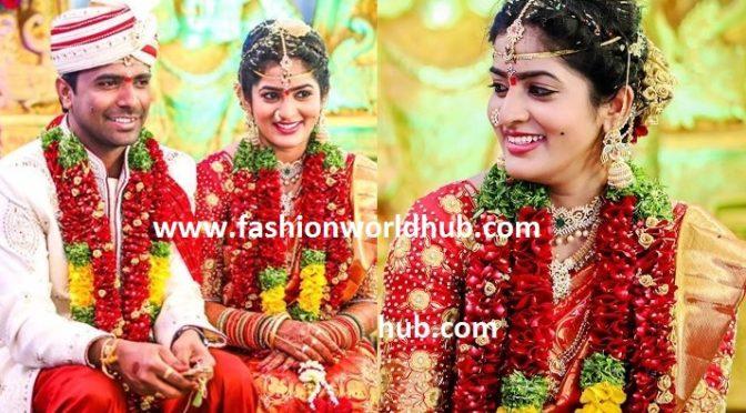 TV Actress Amulya Reddy Wedding Photos ( Famous serial Mugamansulu)