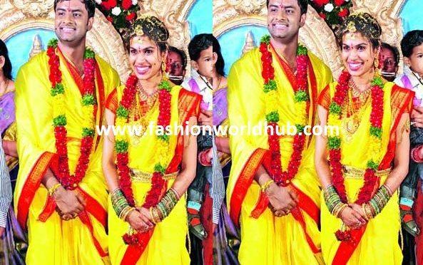 Happy Wedding Anniversary to Sravana bhargavi & Vedala Hemachandra!