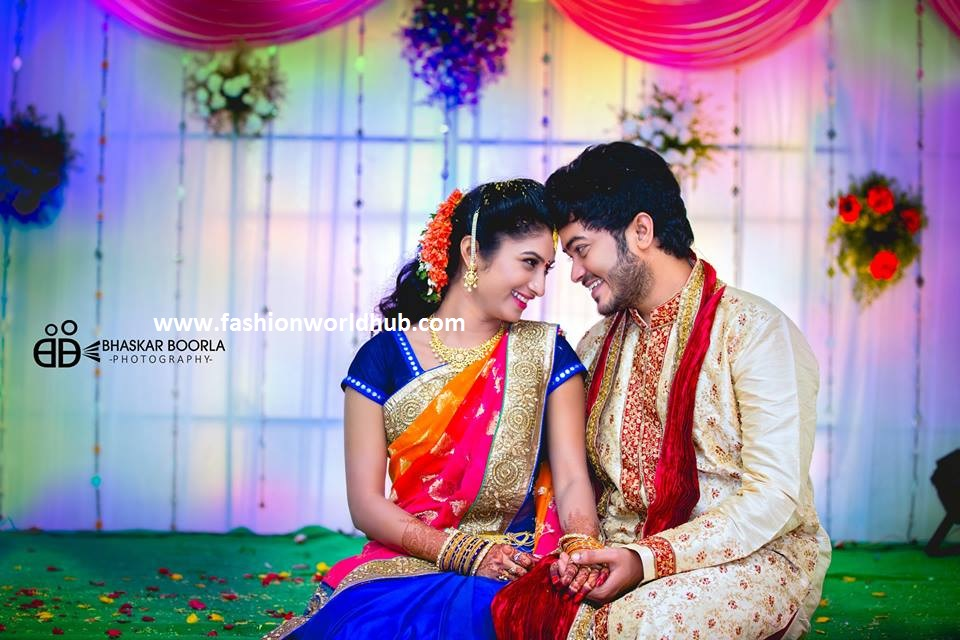 Serial Iddaru Ammayilu Fame Actress Vishnu Priya Wedding Photos