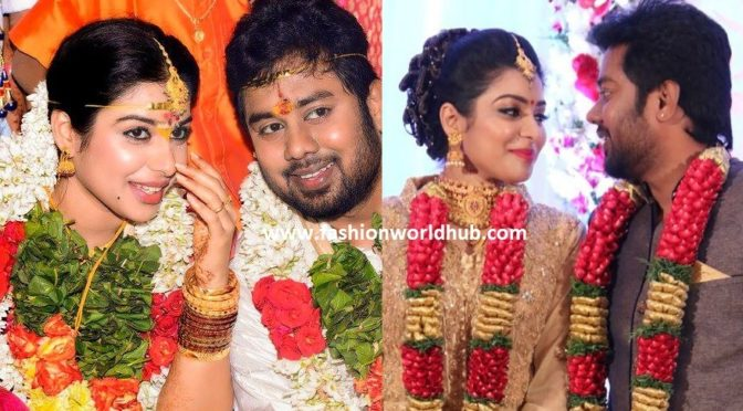 Bichagadu movie Actress Satna Titus Wedding & Reception Photos!
