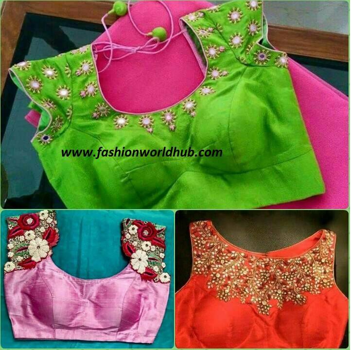 kundan work blouses