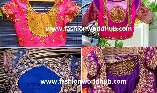 2017 Latest Maggam work blouse designs!