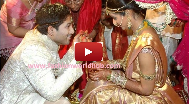 Happy Wedding Anniversary to Allu Arjun and Sneha Reddy! Watch the couple wedding video!