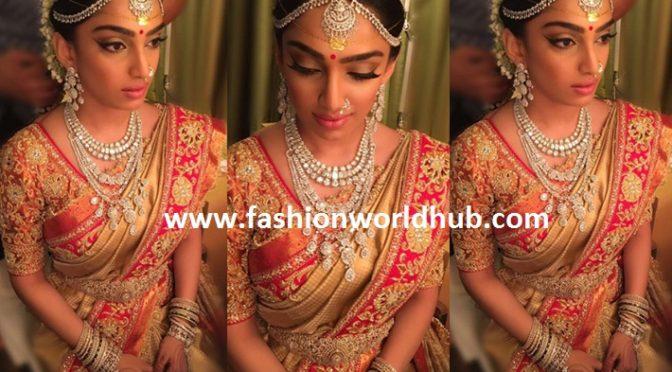 Beautiful Bride Veena Reddy in Abu Jani Sandeep Khosla bridal saree!