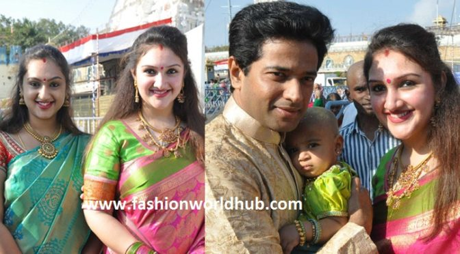 Sridevi Vijaykumar daughter tonsure ( First hair cut) in Tirumala. Watch this video!