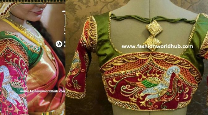 Maggam work blouse designs – 2017 Latest blouse designs