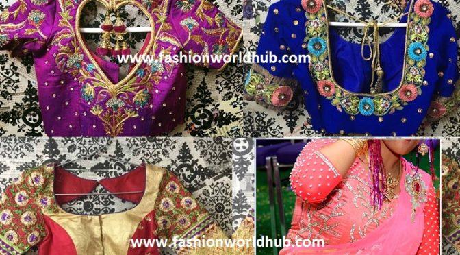 Beautiful blouse designs from Lashita Elite studio.