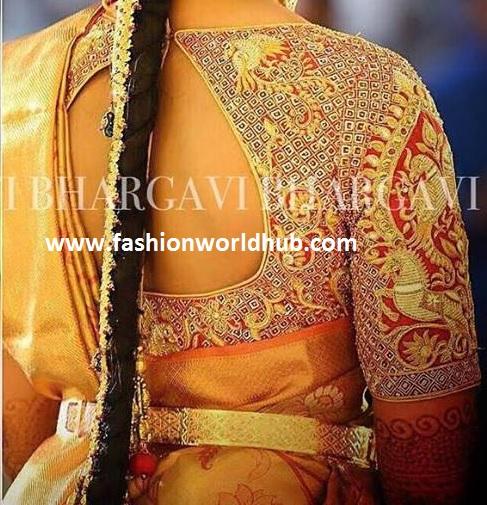 designerblouse -kanjeevaram saree