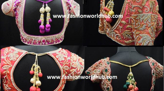 Gorgeous Designer Blouses for Wedding sarees!