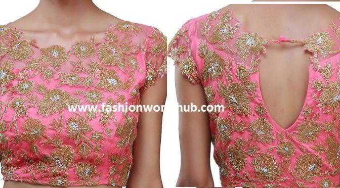 Boat neck designer blouse – Divya Kanakia