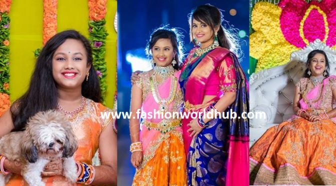 TV Anchor Sravanthi Chukkapalli daughter halfsaree ceremony photos!