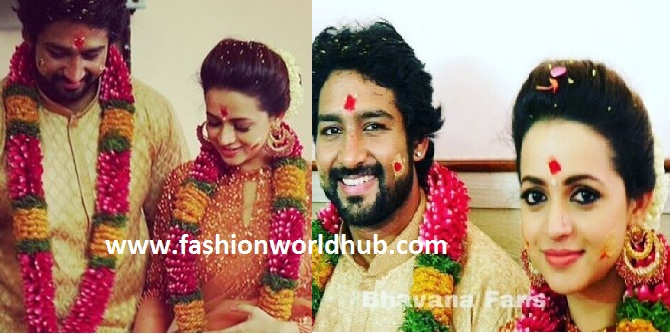 Malyalam Actress Bhavana engagement photos!