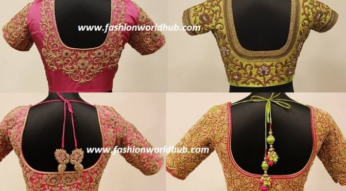 Dazzling bridal maggam work blouse designs!
