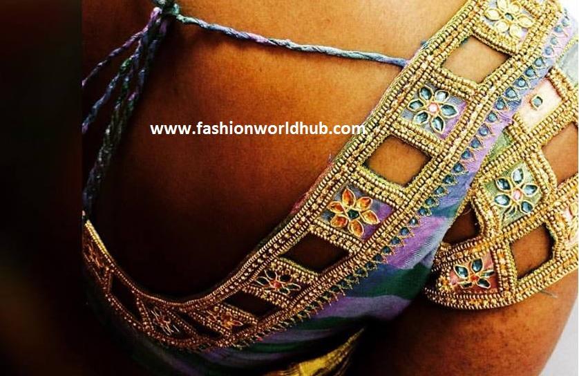 fashionworldhub -cut work blouse