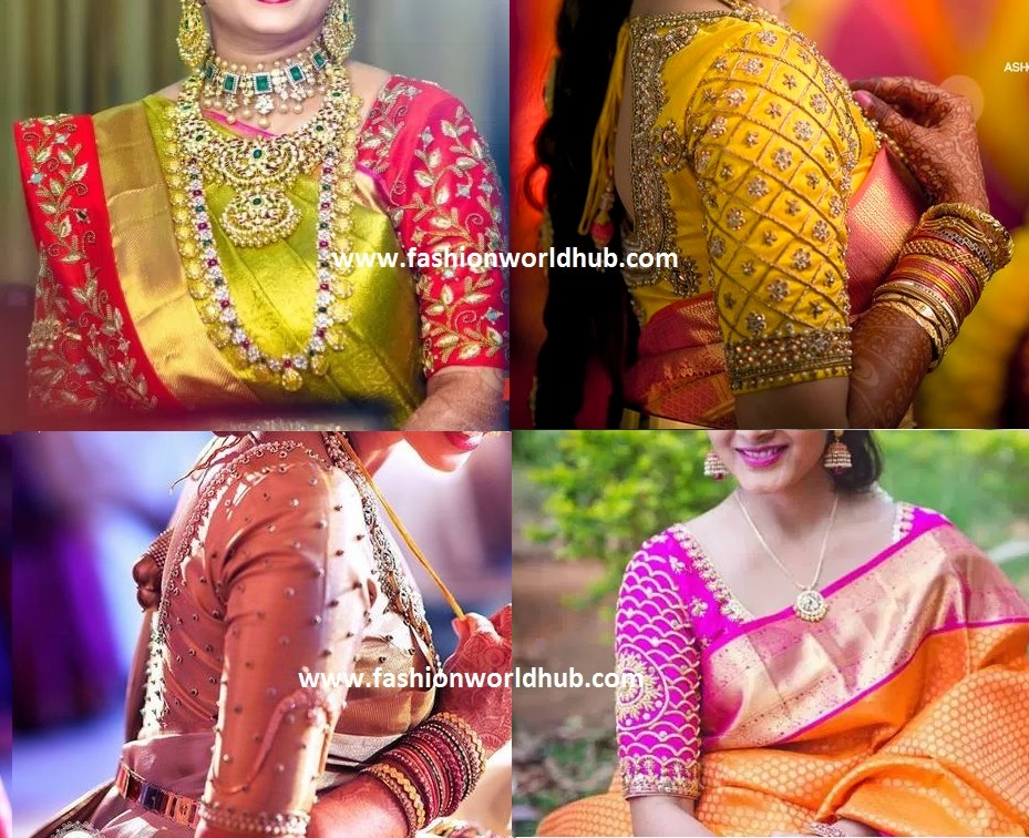 Elbow length Maggam work blouse designs and other blouses ...