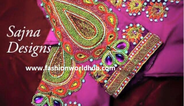Beautiful Blouse designs from Sajna Designers
