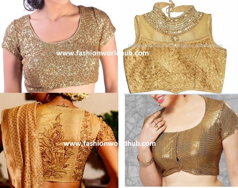 gold blouse pattern designs