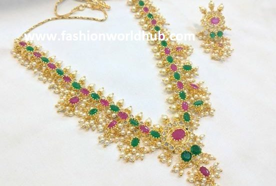 One gram gold necklace – 2100 RS.
