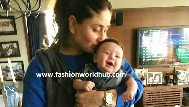 WOW!! Adorable picture of Taimur Ali khan with his mommy!!! So cute!
