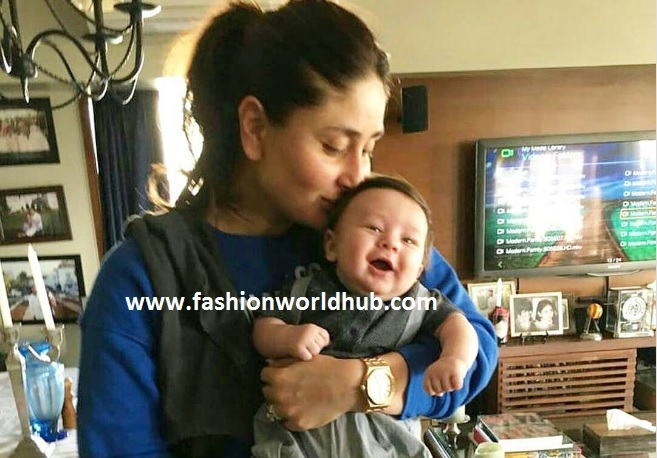 kareena with his son