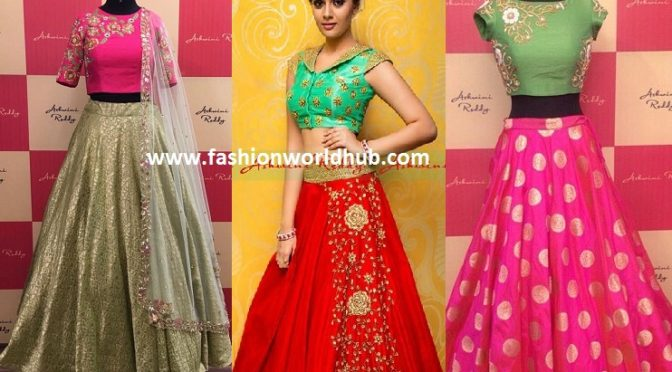 Designer Long skirts & Crop tops by Ashwini Reddy!