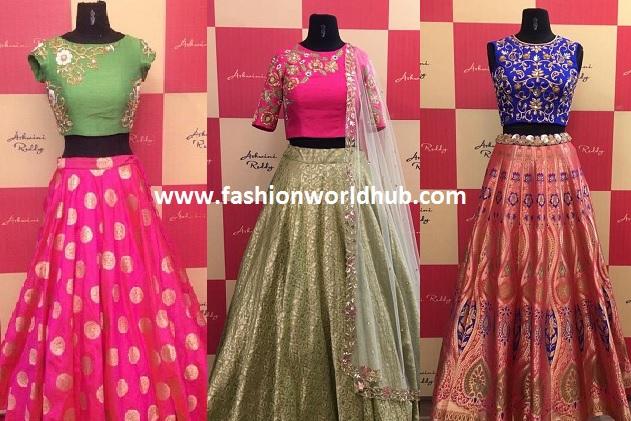 Designer Long skirts & Crop tops by Ashwini Reddy! | Fashionworldhub