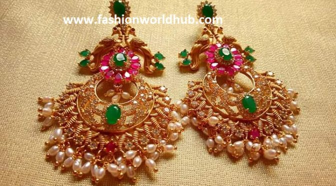 Top 5 Beautiful One Gram Gold Earrings Latest Designs 2017