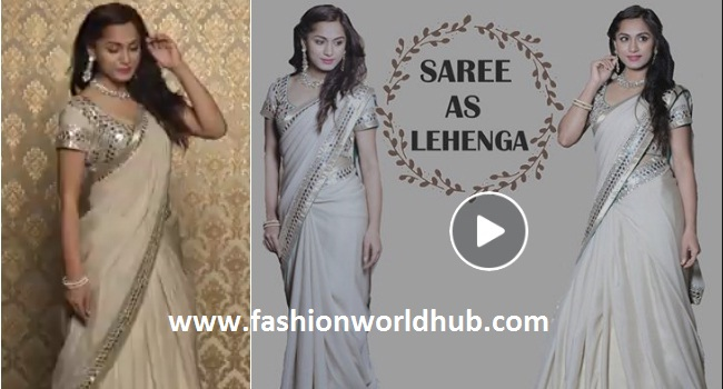How to wear a saree as a lehanga! Mind blowing video!