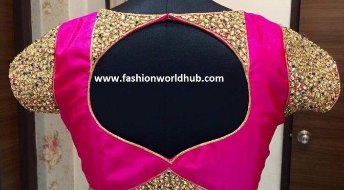 Kundan work blouse – Vanitha Couture