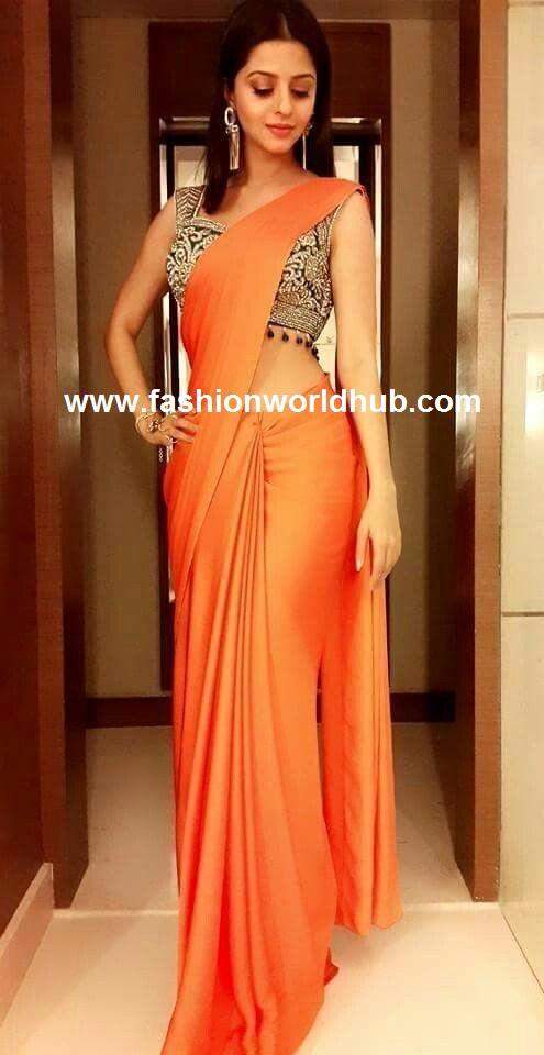 Plain saree with saree blouse