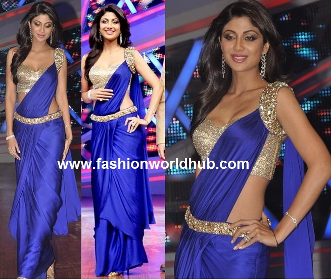 Plain saree with sequence blouse
