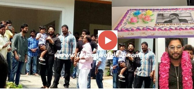 Allu Arjun celebrates his birthday with Fans!! Watch this video!