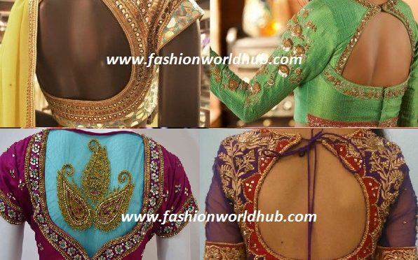 Latest Embroidery blouse designs!
