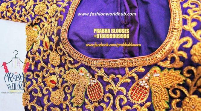 Maggam work blouse designs – Prabha blouses