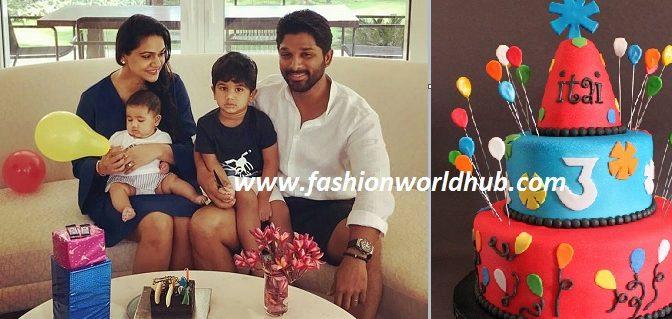 Allu Arjun Son Allu Aayan 3rd birthday celebrations at Goa!